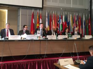 Deputy Alan Farrell speaking at OSCE PA meeting