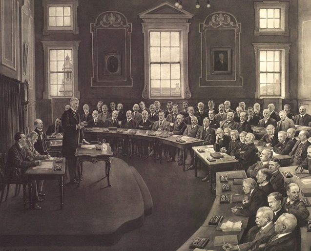 Detail from an image of Sir Horace Plunkett addressing the Convention