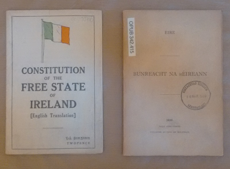 Copies of the Irish Constitutions
