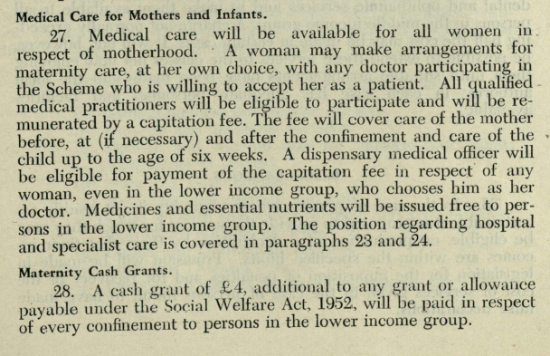 Proposals for improved and extended health services, July 1952