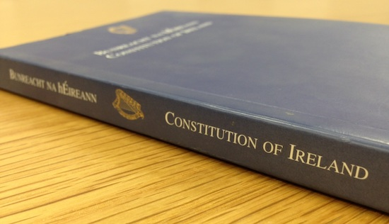 Photo of the Constitution of Ireland