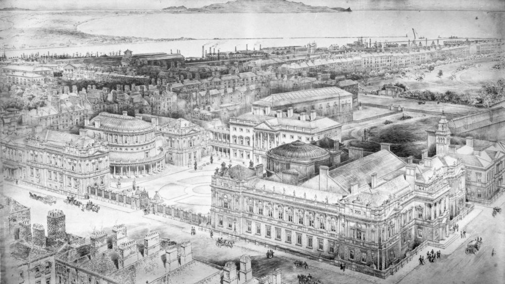 Architect drawings of Leinster House