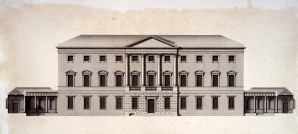 Original architect's drawing of Leinster House by Richard Castle
