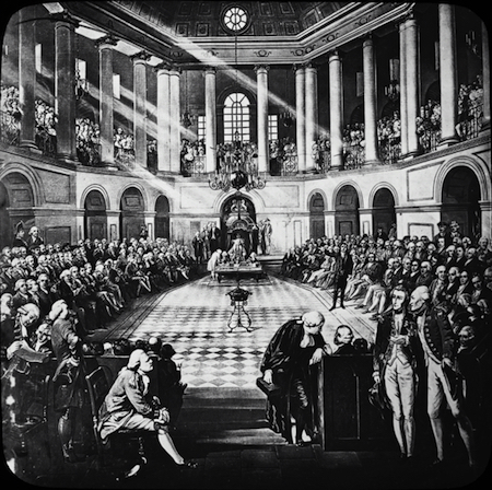 Drawing of the Great Parliament of Ireland, elected 1790