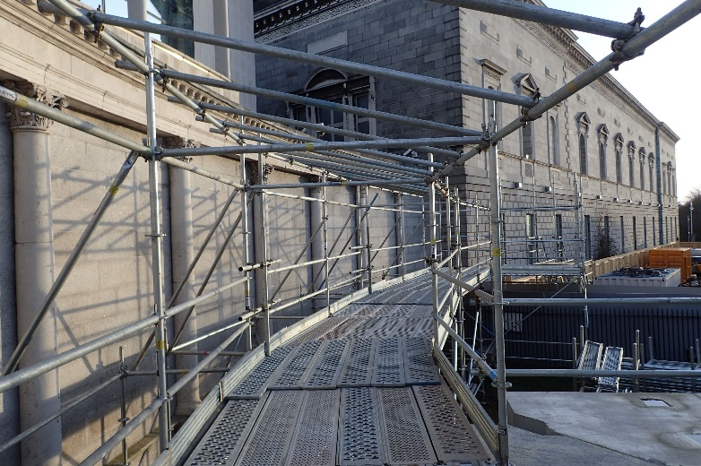 Scaffold on Leinster House