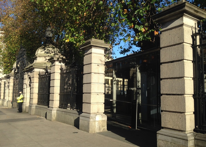 Leinster House visitors' entrance