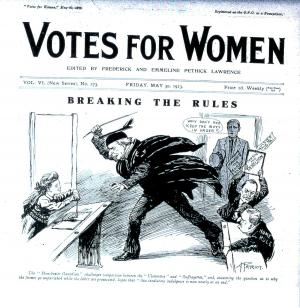 Front cover of Votes for Women, 1913