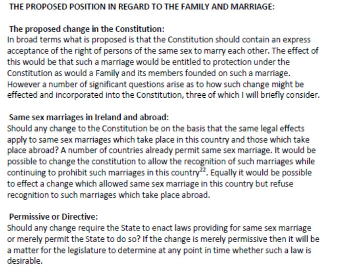 Third Report of the Convention on the Constitution, Amending the Constitution to provide for same-sex marriage, 2013