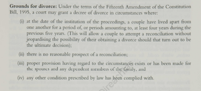 The Right to Remarry, a Government Information Paper on the Divorce Referendum, September 1995