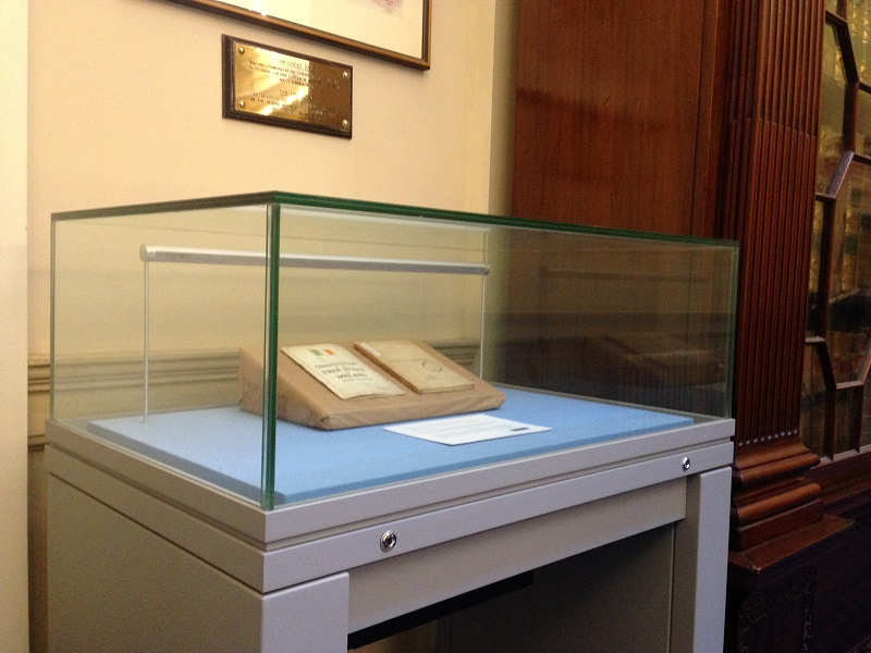 L&RS display case in Leinster House